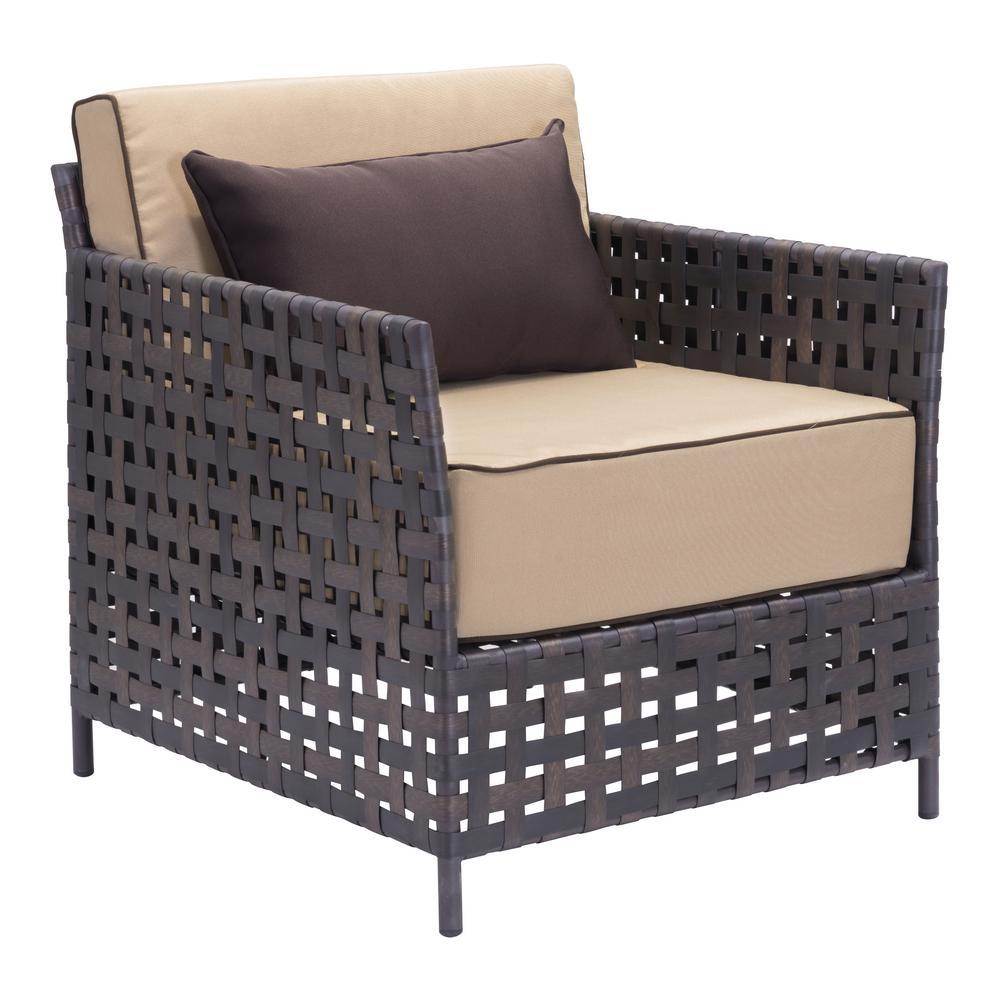 Brown Wicker Lounge Chair Beige Of