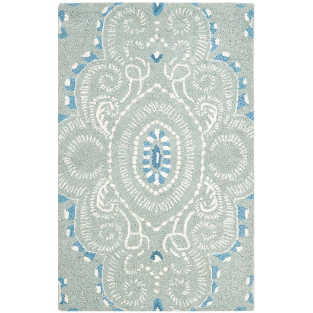 Safavieh Wyndham Blue/Ivory 2 ft. 6 in. x 4 ft. Area Rug