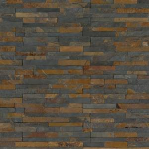 Three Rivers Gold 6 in. x 6 in.Textured Wall Slate Tile (2 sq. ft./case )