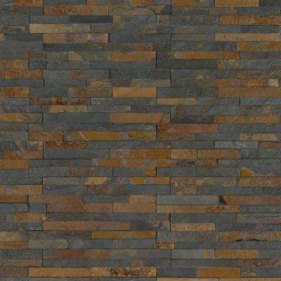 Three Rivers Gold Ledger Corner 6 in. x 6 in. Natural Slate Wall Tile (2 sq. ft. / case)