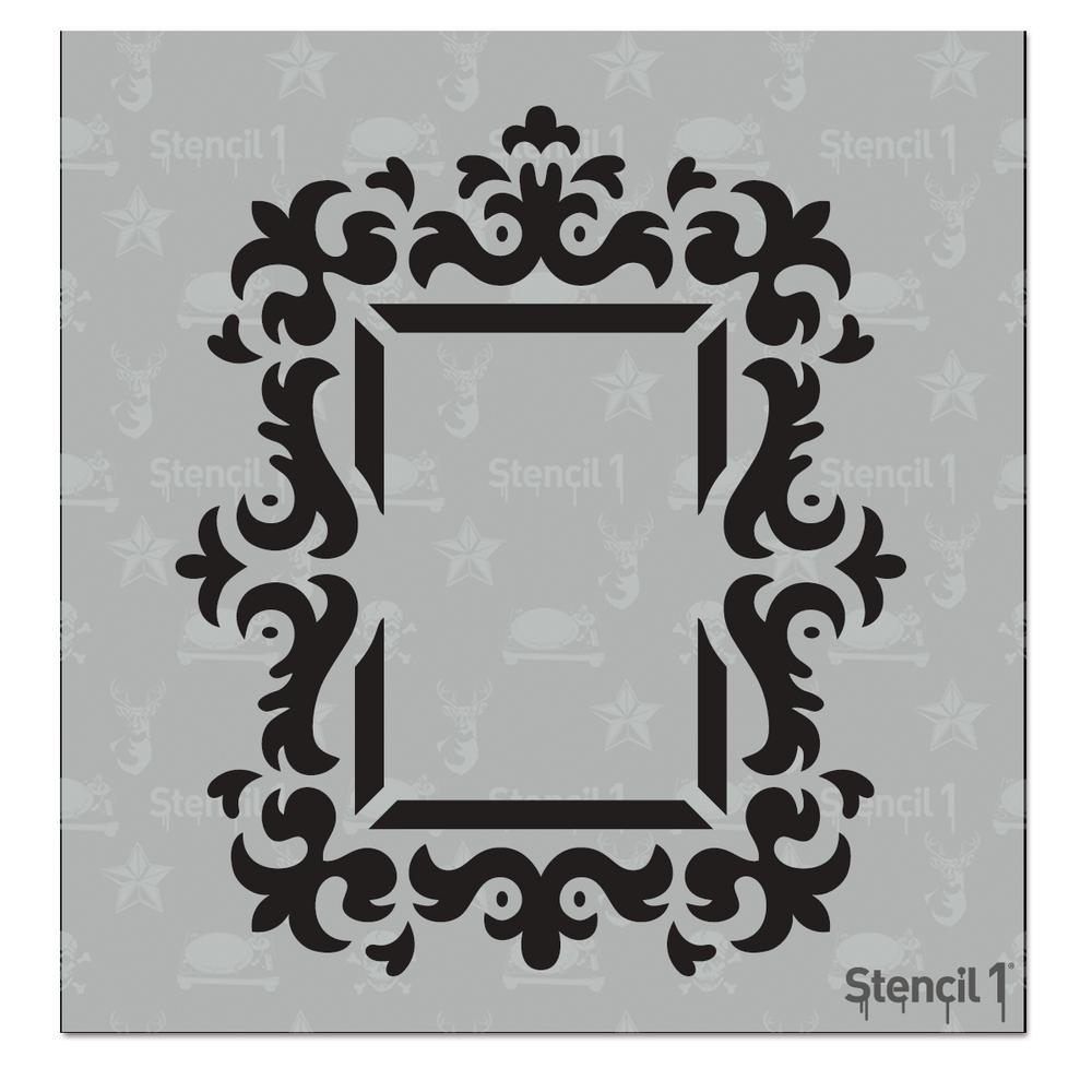 Stencil1 rococo frame 2 small stencil s101213s the home depot stencil1 rococo frame 2 small stencil jeuxipadfo Image collections