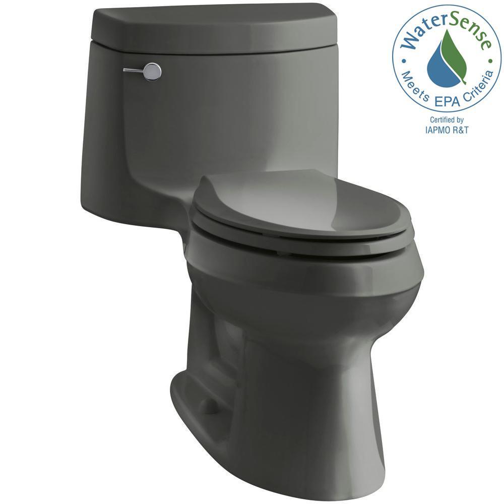 KOHLER Cimarron 1 Piece 128 GPF Single Flush Elongated Toilet With AquaPiston Technology In