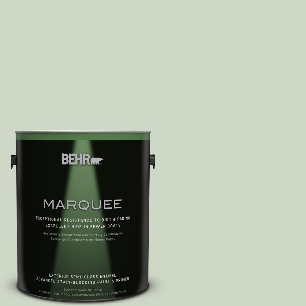 BEHR MARQUEE 1-gal. #S390-2 Spring Valley Semi-Gloss Enamel Exterior Paint