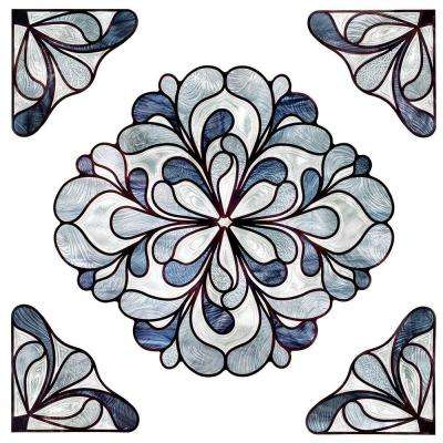12 in. x 12 in. Capri Slate Medallion Decorative Window Film