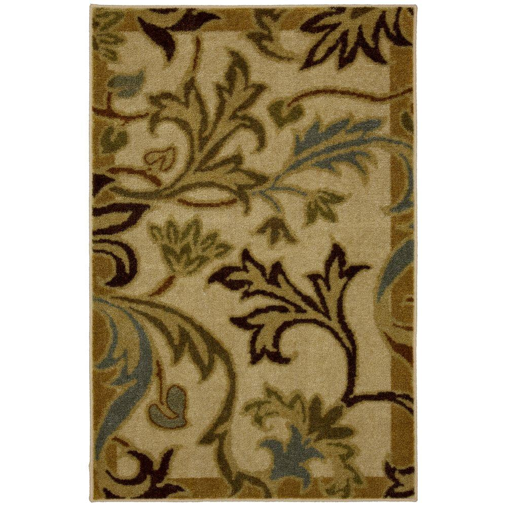 Mohawk Home Lancaster Neutral 1 ft. 8 in. x 2 ft. 10 in. Accent Rug