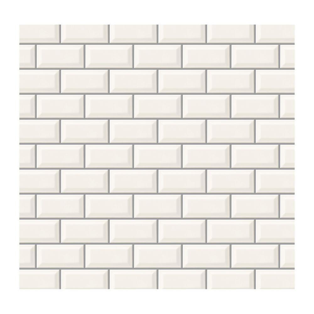 Daltile Rittenhouse Square White 3 In X 6 Glazed Ceramic Bevel Wall Tile 9 Sq Ft Case