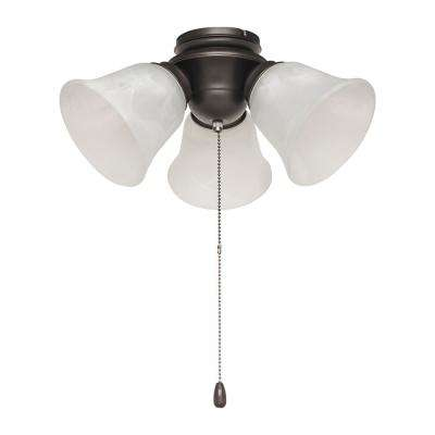 Ceiling fan light kits ceiling fan parts the home depot 3 light satin bronze alabaster glass led ceiling fan light kit aloadofball Gallery
