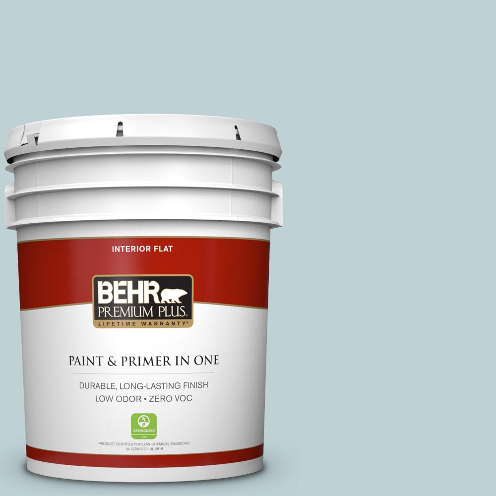 BEHR Premium Plus 5-gal. #500E-3 Rain Washed Zero VOC Flat Interior Paint
