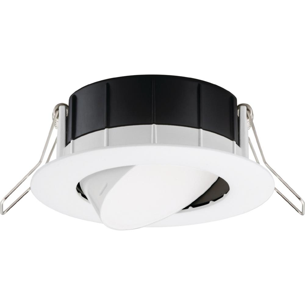 Lithonia Lighting 3 in. 3000K New Construction or Remodel Matte White Recessed Integrated LED Gimbal Kit