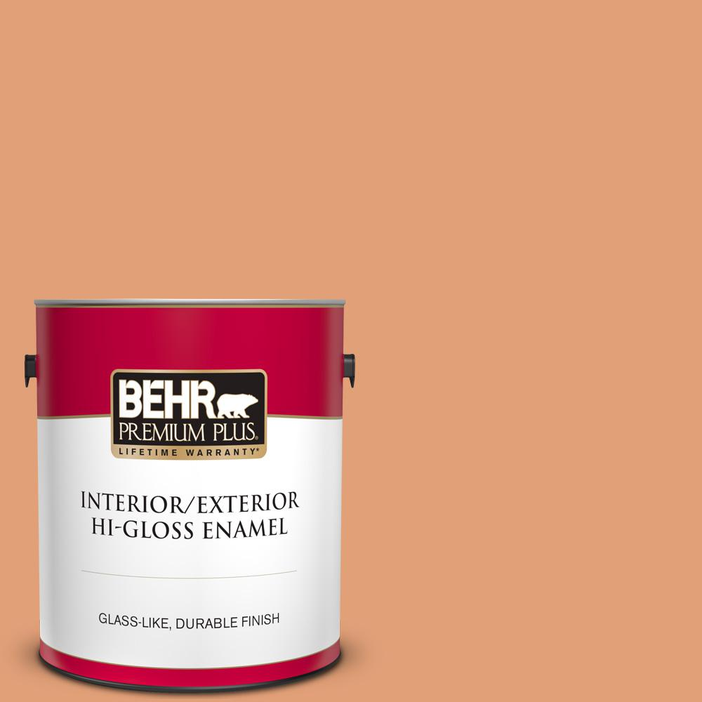 Reviews For Behr Premium Plus 1 Gal M220 5 Roasted Seeds Hi Gloss Enamel Interior Exterior Paint 840001 The Home Depot