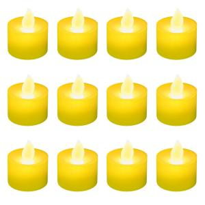 Amber LED Tealight Candles (Box of 12)