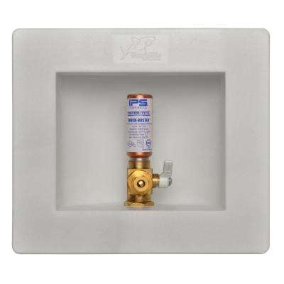 1/2 in. Brass Ice Maker Outlet Box with Water Hammer Arrestor