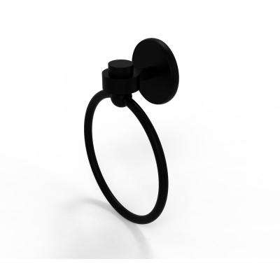 Satellite Orbit One Collection Towel Ring in Matte Black
