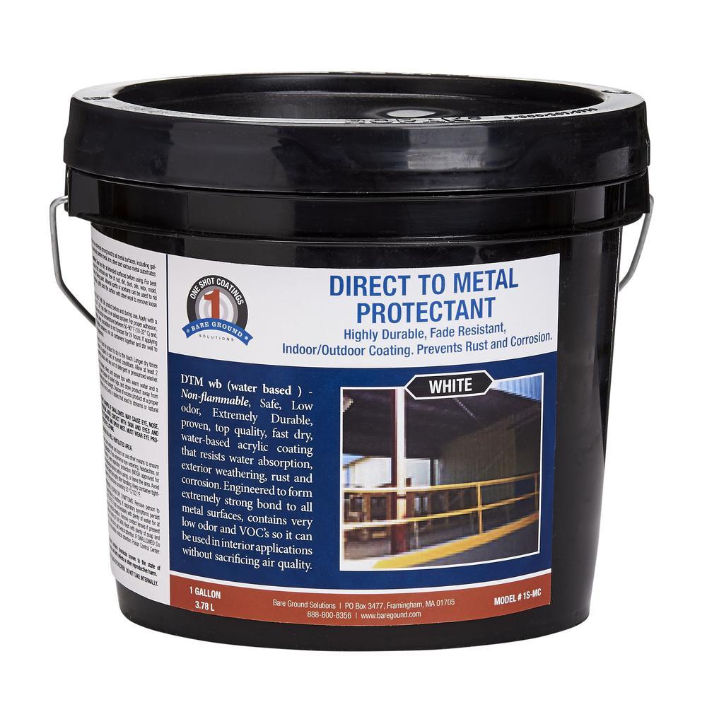 1 Shot 1 Gal White Direct To Metal Water Based Paint