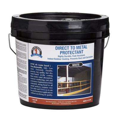 1 gal. White Direct To Metal Water Based Paint