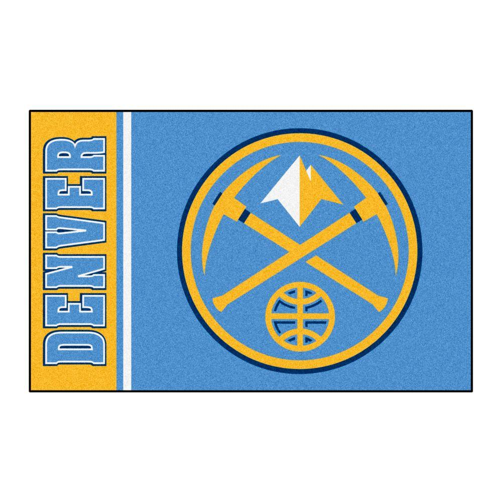 Nuggets X Clippers: FANMATS NBA Denver Nuggets Blue 1 Ft. 7 In. X 2 Ft. 6 In