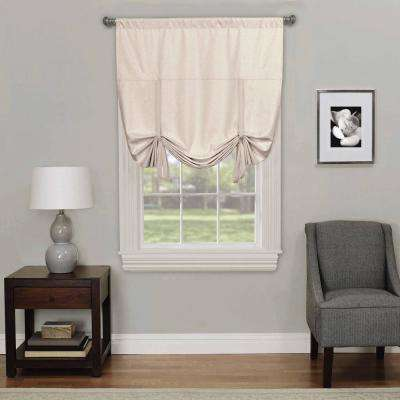 Kendall 63 in. L Ivory Polyester Rod Pocket Curtain (1-Pack)