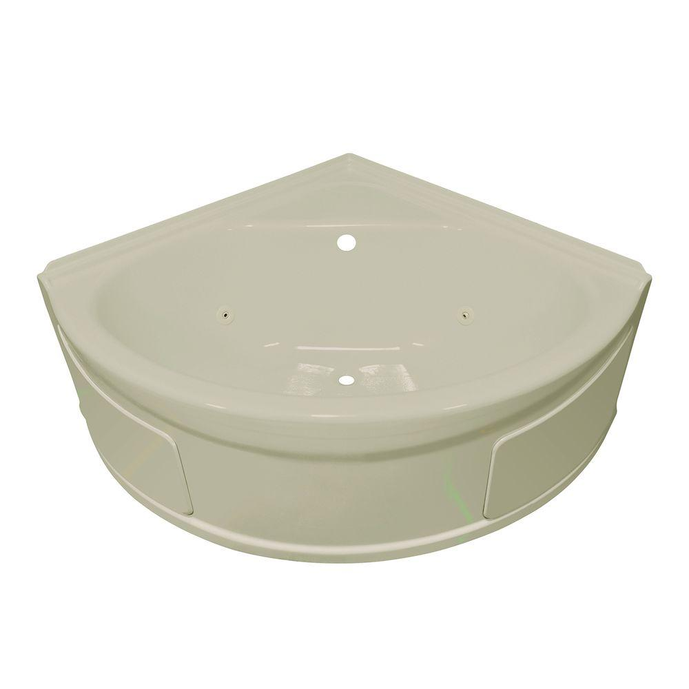 Lyons Industries Sea Wave 4 ft. Whirlpool Tub with Center Drain in Biscuit