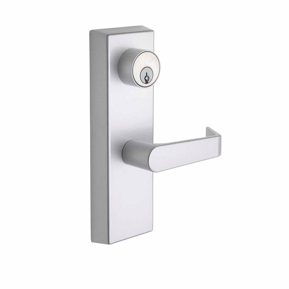 Copper Creek Esutcheon Handle Satin Stainless Entry Door Lever With Clutch Al9140ss The Home Depot