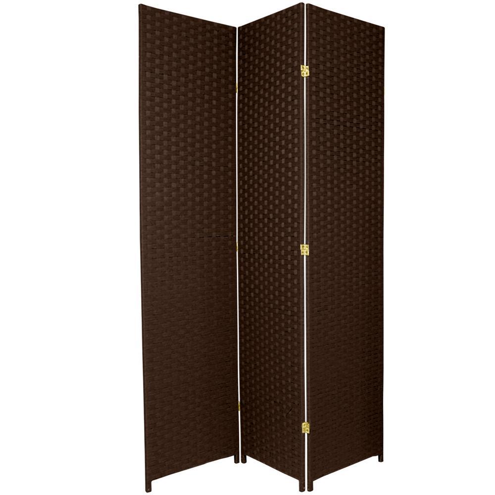7 ft. Dark Mocha 3-Panel Room Divider