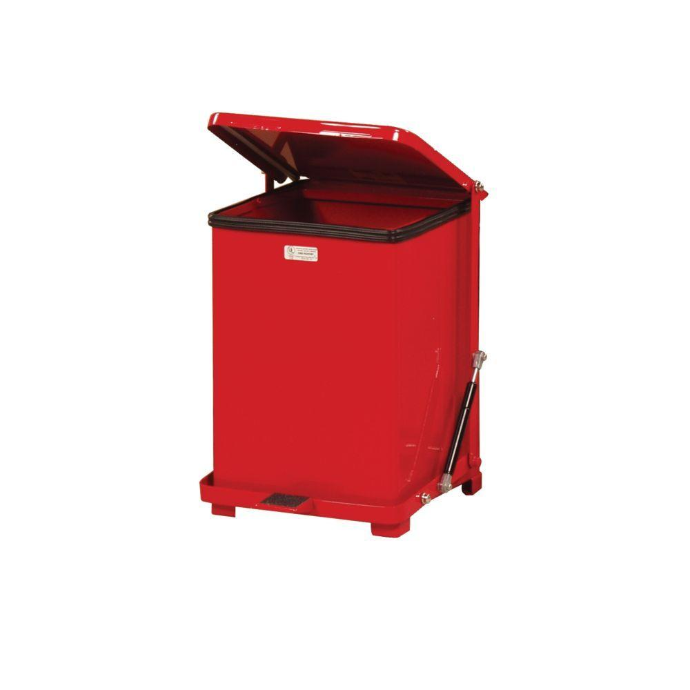 Rubbermaid Commercial Products Defenders 7 Gal. Red Step-On Trash Can