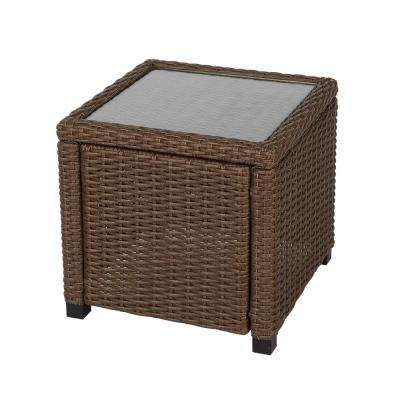 Maldives Brown Wicker Outdoor Accent Table