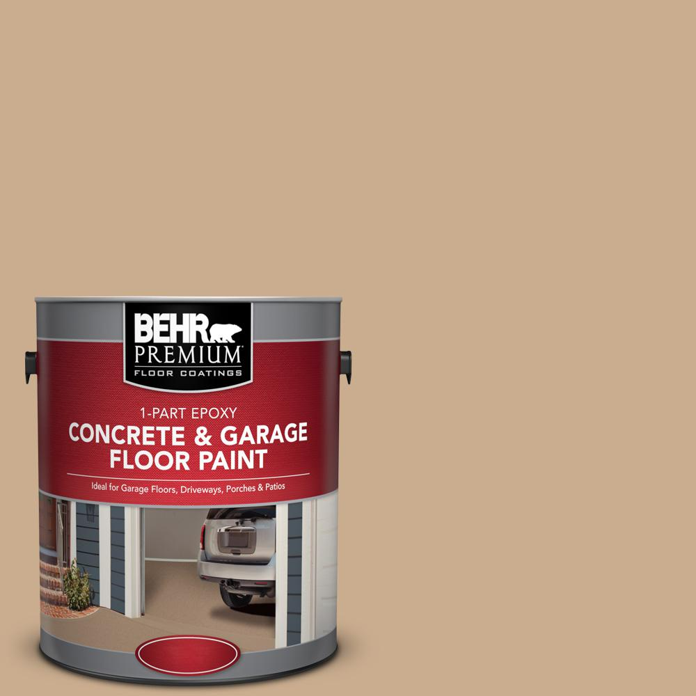 behr premium 1 gal pfc 23 tan 1 part epoxy concrete and garage floor paint 90001 the home depot. Black Bedroom Furniture Sets. Home Design Ideas