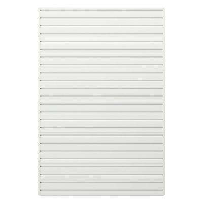 Modular Garage Wall Storage Panels in White