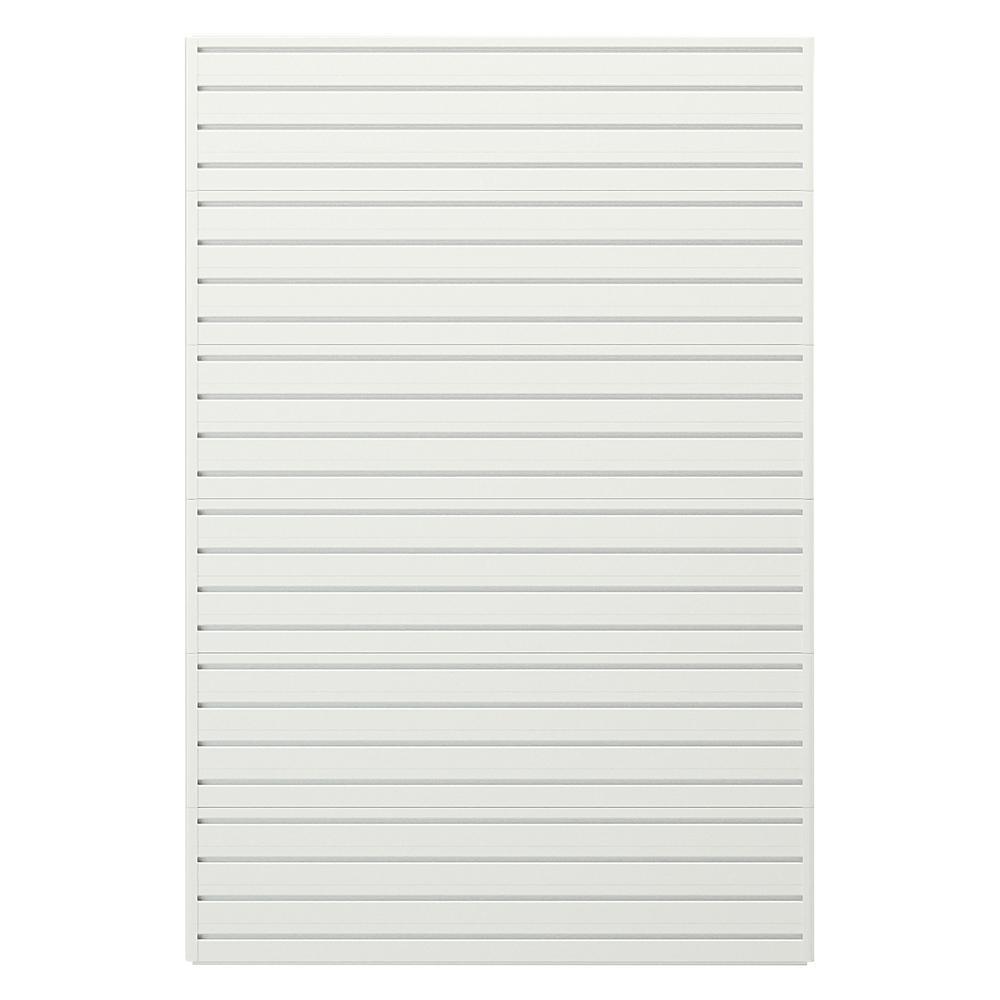 Modular Garage Wall Storage Panels in White