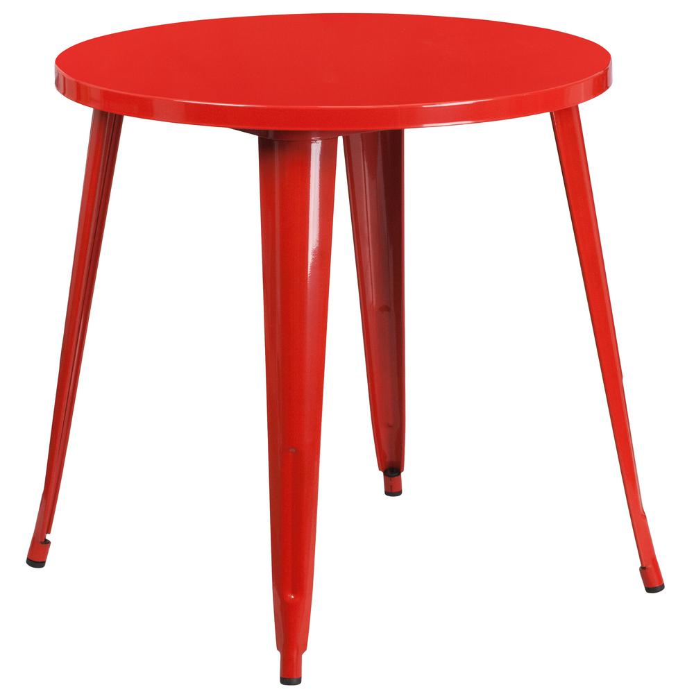 This Review Is From:Red Round Metal Outdoor Bistro Table