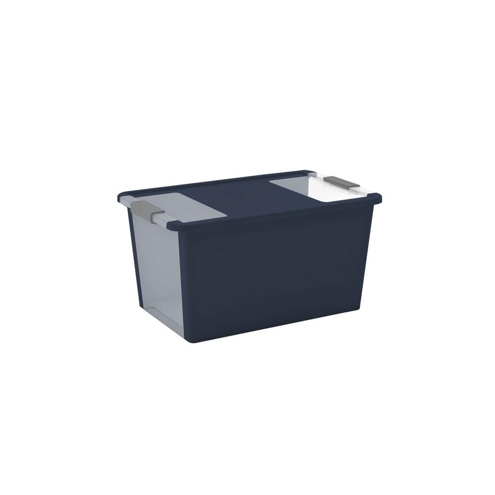 42.8 qt. Large Latching Storage Tote in Midnight Blue