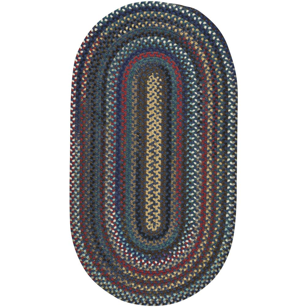 Capel bunker hill dark navy 7 ft x 9 ft oval area rug for Accent rug vs area rug