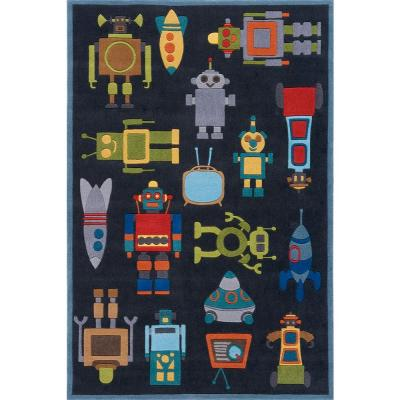 Caprice Collection Blue 8 ft. x 10 ft. Indoor Area Rug