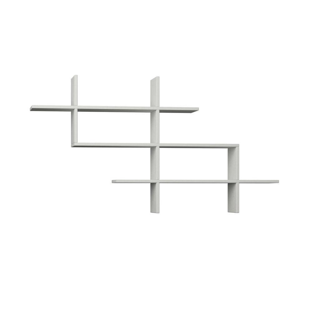 Ada Home Decor Warren White Mid-Century Modern Wall Shelf DCRW2041