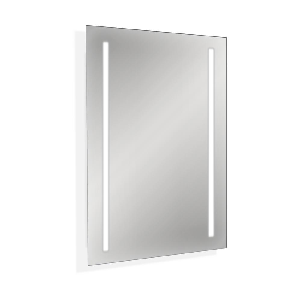 Backlit Wall Mounted Led Makeup Or Vanity Mirror 200096 Nl The Home Depot