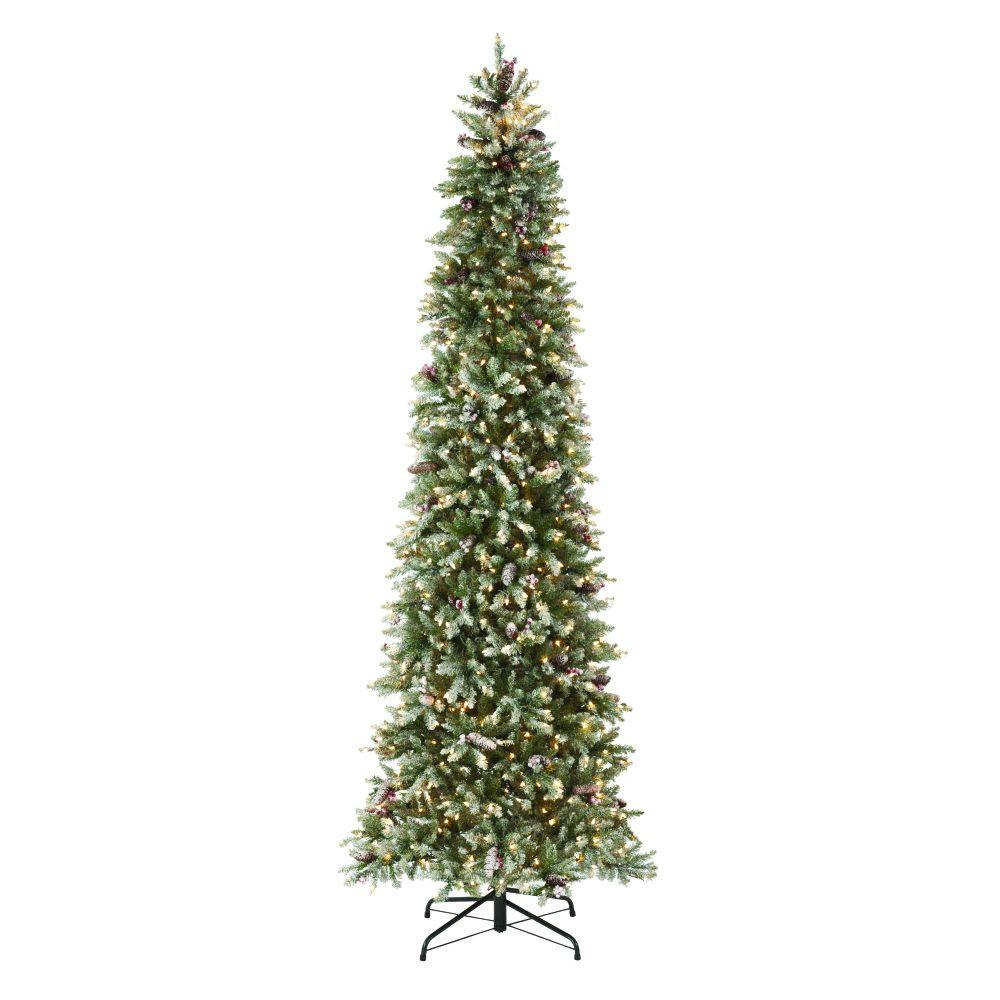 indoor pre lit dunhill fir pencil slim artificial christmas tree - Mountain King Christmas Trees