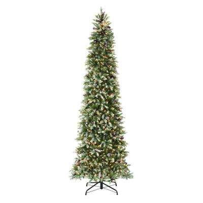 9 ft. Indoor Pre-Lit Dunhill Fir Pencil Slim Artificial Christmas Tree