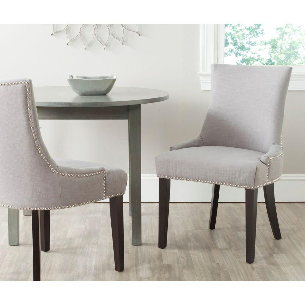 Superieur Safavieh Lester Arctic Grey Cotton Blend Dining Chair (Set Of 2)