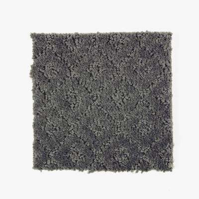 Carpet Sample - Sawyer - Color Rough Stone Pattern 8 in. x 8 in.