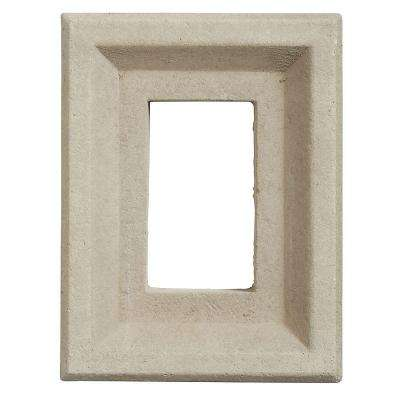 8 in. x 6 in. Versetta Stone Receptacle Box Taupe