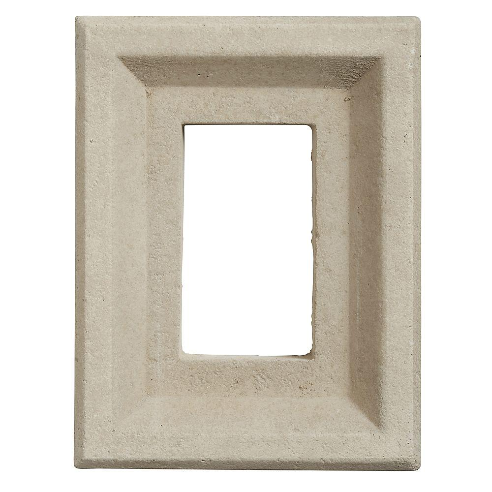 Boral 8 in. x 6 in. Versetta Stone Receptacle Box Taupe, Brown -  4210315