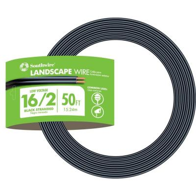 50 ft. 16/2 Black Stranded CU Low-Voltage Landscape Lighting Wire
