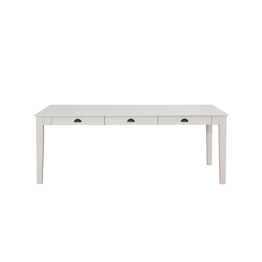 Acme Furniture Renske Antique White Dining Table 71850 The Home Depot