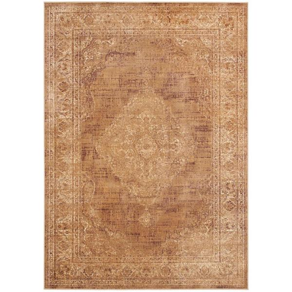 Vintage Taupe 10 ft. x 14 ft. Area Rug