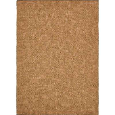 Outdoor Vine Brown 8' 0 x 11' 4 Area Rug
