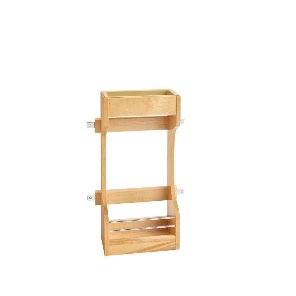 Rev-A-Shelf 18.63 in. H x 10.5 in. W x 5 in. D Small Cabinet Door Mount Wood 2-Shelf Storage Organizer