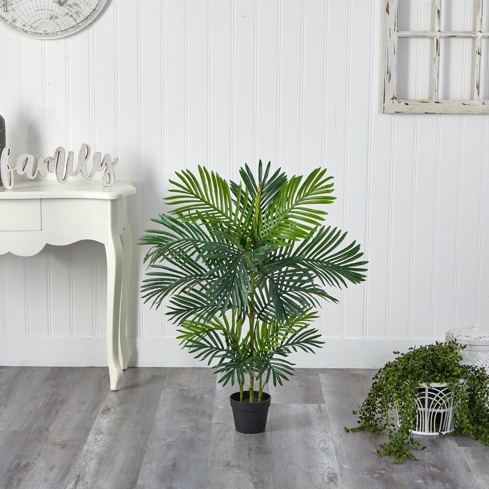 40 in. Artificial Areca Palm Tree UV Resistant (Indoor/Outdoor)