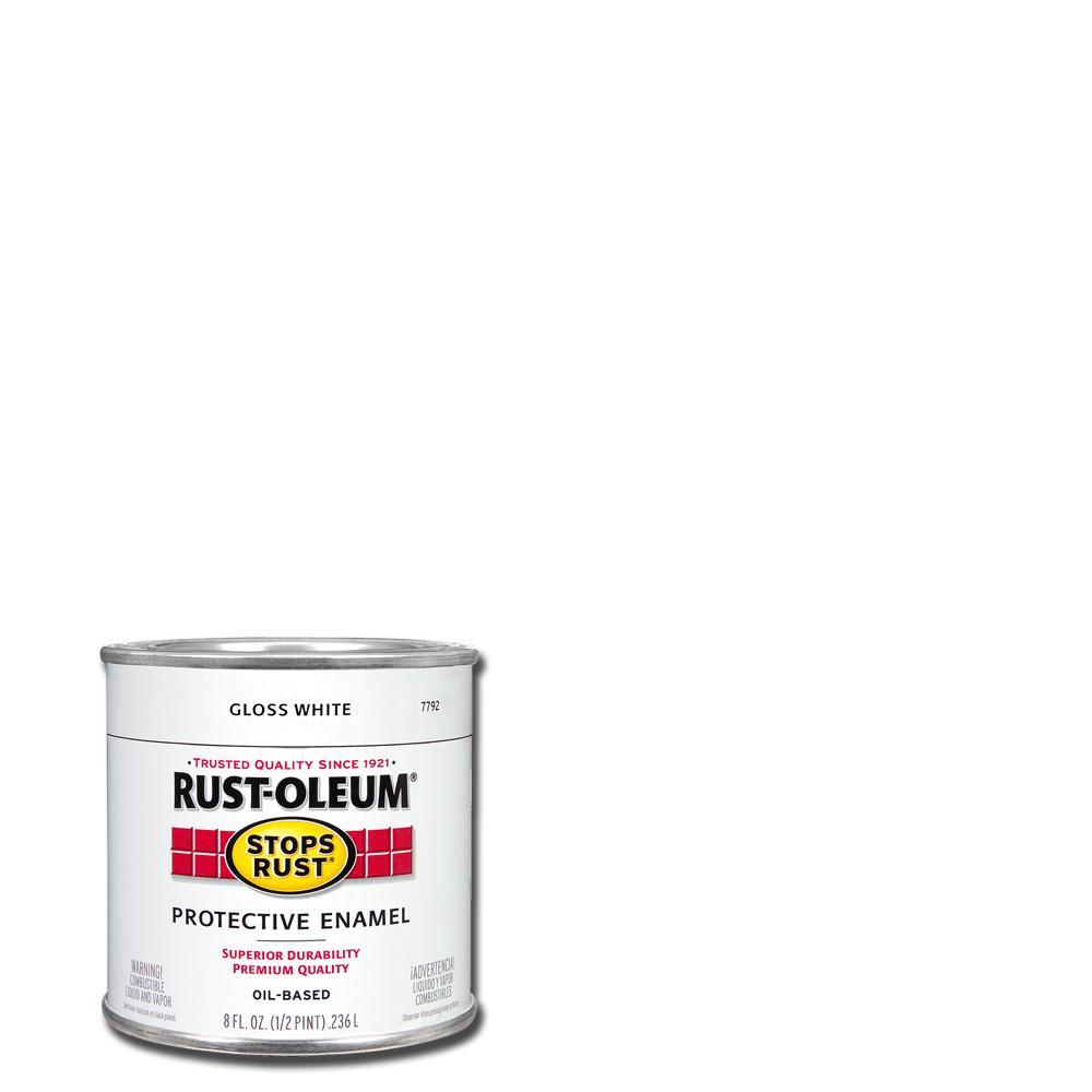 8 oz. Protective Enamel Gloss White Interior/Exterior Paint