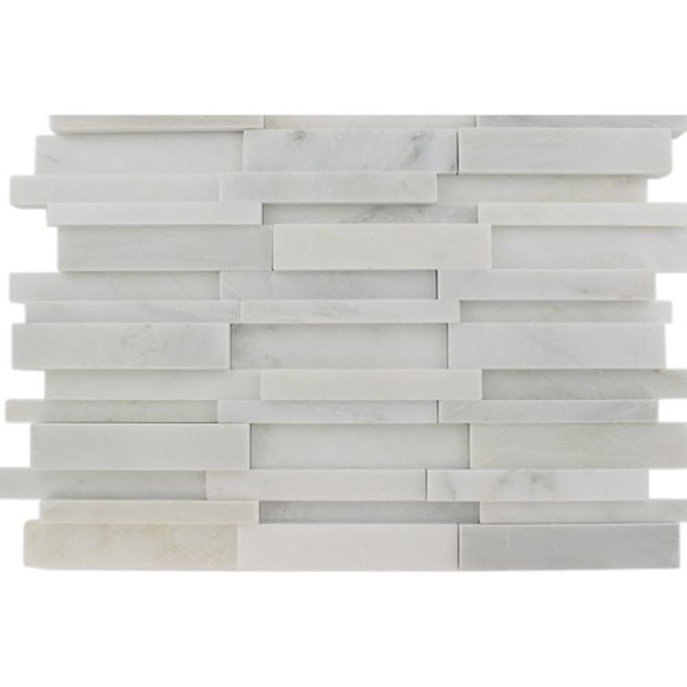 Splashback Tile Dimension 3d Brick Asian Statuary Pattern 12 In X
