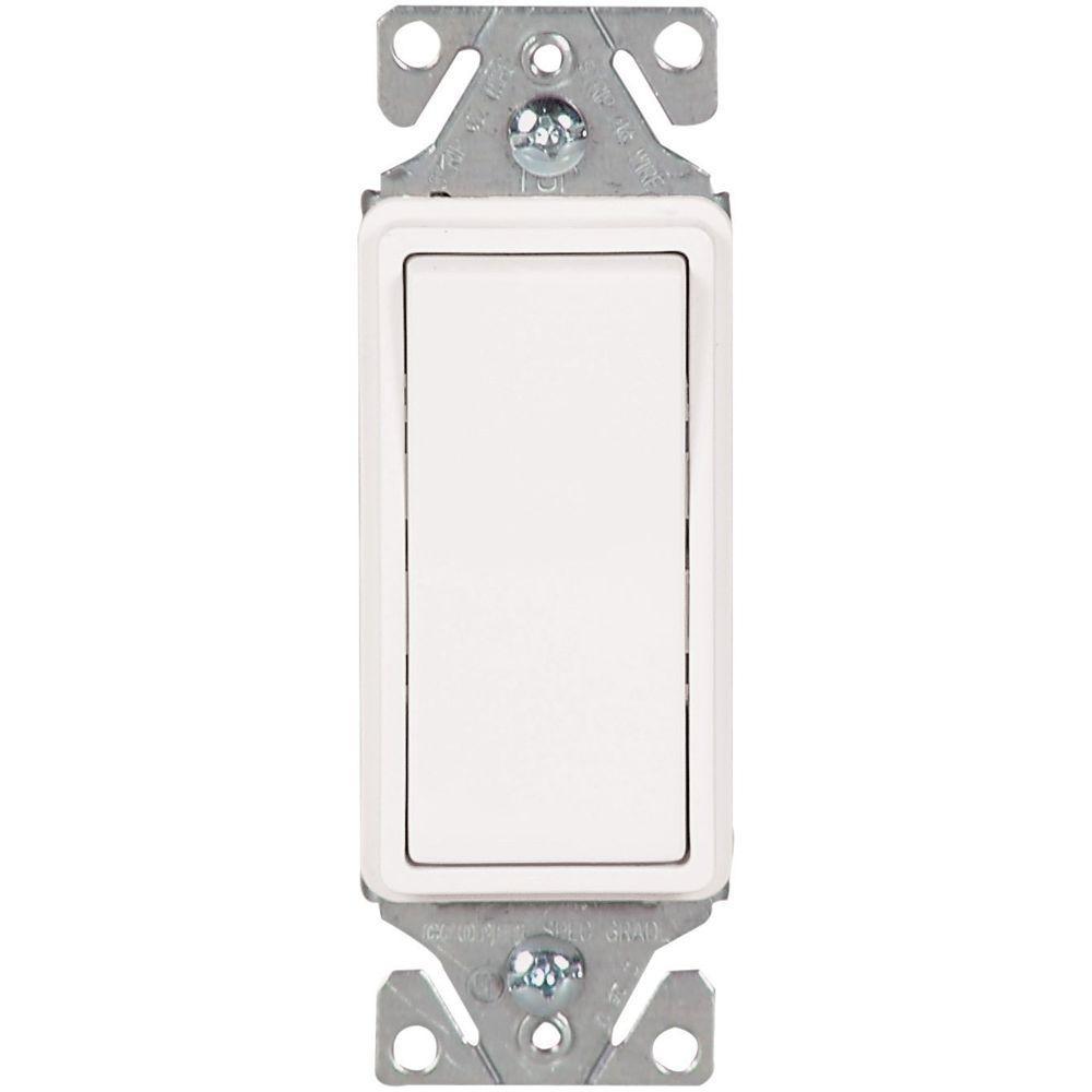 Eaton Decorator 15 Amp 3-Way Light Switch - White